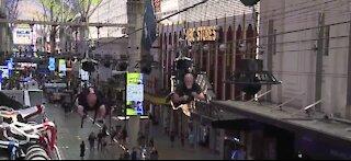 SlotZilla job applicants ride on downtown Las Vegas zipline during hiring event