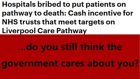 ...do you still think the government cares about you?
