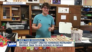 Kenmore West student creates homemade instrument