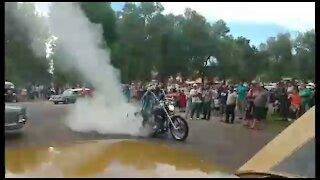 Harley Car Rally Burnout