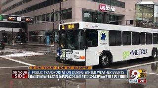Public transit during winter weather