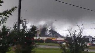Tornado rips roof off Virginia business