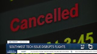 Technical issues disrupt flights with Southwest Airlines