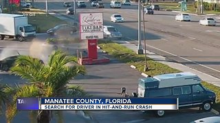 Search is on for the driver in hit-and-run crash