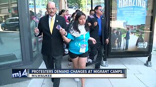 Milwaukee protesters demand changes at migrant camps