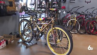 Local bike shops struggling to keep up with the high demand for bikes