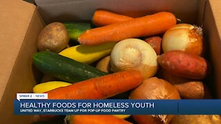 Healthy foods for homeless youth