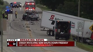 Multi-vehicle crash closes all lanes of WIS 145 in Germantown