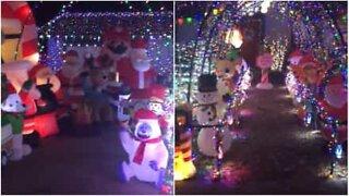 Impressive Christmas light display in Texas