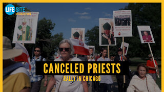 Rally for Canceled Priests in Chicago