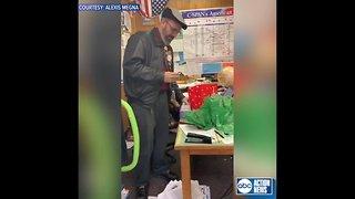 Students surprise color blind teacher