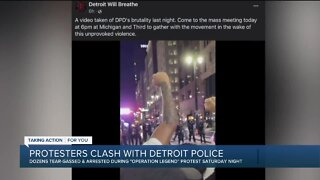Protesters clash with DPD officers