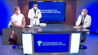Dr. Dana Hawkinson gets COVID-19 vaccine