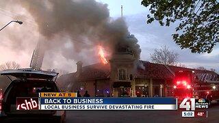 Local businesses survive devastating fire