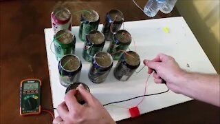 Soda can battery - power from trash - viral DIY project