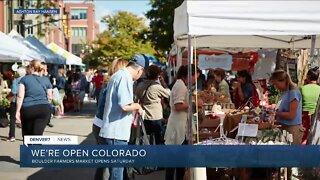 Farmers Market in Boulder opens Saturday