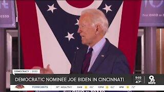 Democratic nominee Joe Biden in Cincinnati Monday night