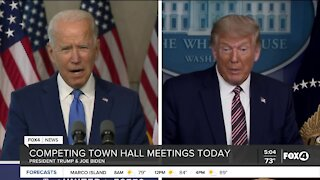 President Trump and Joe Biden town hall