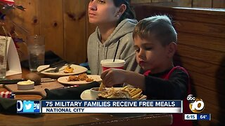 75 military families receive free meals