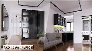 Speedy build apartment units Interior Design in AutoCAD, Sketchup & Enscape