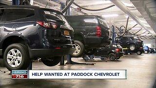 Help wanted at Paddock Chevrolet