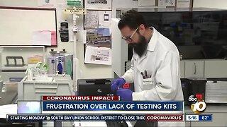 Frustration over lack of testing kits