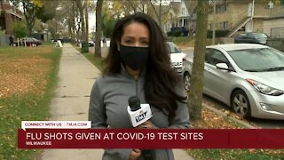 Two Milwaukee COVID-19 testing sites now offer free flu shots