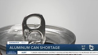 Aluminum can shortage affecting San Diego breweries