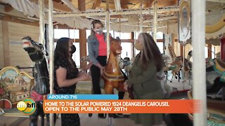 A sneak peek at the Buffalo Heritage Carousel at Canalside