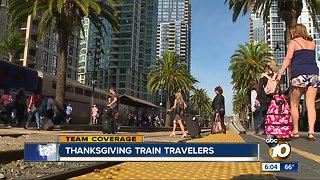 Thanksgiving train travelers