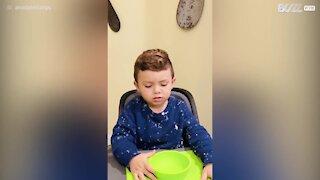 Boy passes 'Don't Eat It Challenge' with distinction