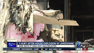 One person injured after house explosion in Lansdowne