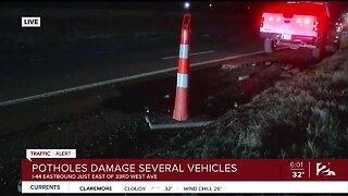 Pothole damage several vehicles