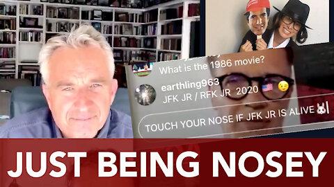 Vincent Fusca investigates Robert Kennedy Jr - RFK Jr touching nose!