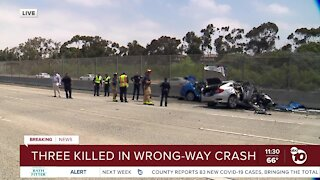 Three killed in fiery wrong-way crash in San Ysidro