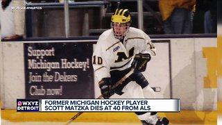Former Michigan hockey player Scott Matzka dies at 40 from ALS