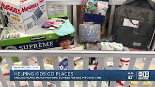 Helping Kids Go Places: Arizona Helping Hands providing supplies for kids in foster care