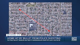 Home hit by bullet fired by man involved in police shooting