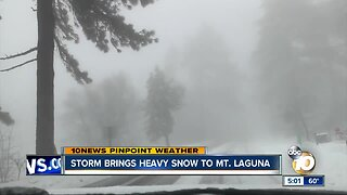 Storm brings heavy snow to mountains