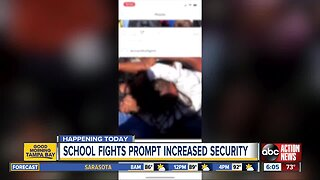 10 teens arrested at a Hillsborough Co. high school for fights