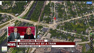 Pedestrian hit by a train in Waukesha