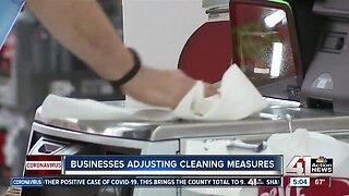 Businesses adjust cleaning measures amid coronavirus pandemic
