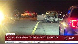 Overnight deadly crash I-75