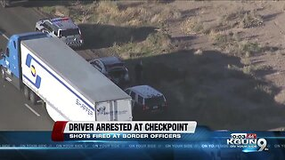 Driver arrested after speeding through Arizona immigration checkpoint