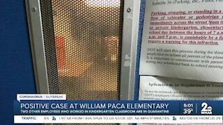 Positive case at William Paca Elementary