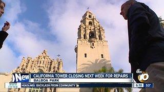 California Tower at Balboa Park closing temporarily
