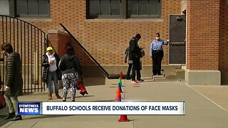 Buffalo schools receive face mask donations