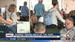 More than 30 million people expected to fly during Thanksgiving holiday
