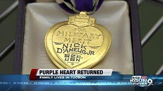 Purple Heart found at a Tucson Goodwill returned to family