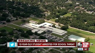 12-year-old arrested for threatening mass shooting at a Hillsborough middle school on SnapChat